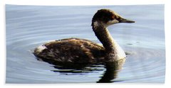 Black Necked Grebe Bath Towel