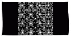 Black Night Lights Bath Towel