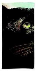 Black Panther Animal Art Bath Towel