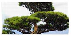 Black Pine Japan Bath Towel by Susan Lafleur