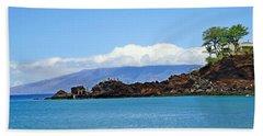 Black Rock Beach And Lanai Hand Towel
