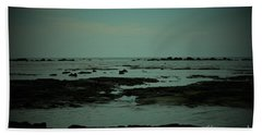 Black Rock Beach Hand Towel