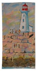 Black Rocks Of Peggy's Cove  Hand Towel