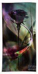Black Rose In Color Symphony Hand Towel