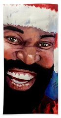 Black Santa Bath Towel