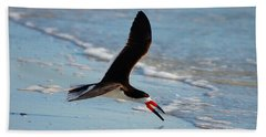 Black Skimmer Bath Towel