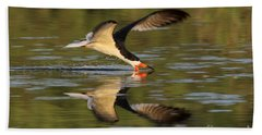 Black Skimmer Fishing Hand Towel by Meg Rousher