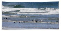 Black Skimmers In Ponce Bath Towel