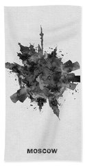 Black Skyround Art Of Moscow, Russia Hand Towel