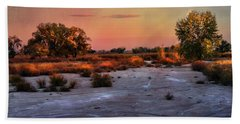 Bath Towel featuring the photograph Black Squirrel Creek Fall Scape by Ellen Heaverlo