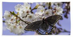 Black Swallowtail Butterfly Bath Towel