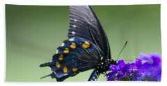 Black Swallowtail Hand Towel