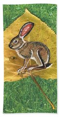 Black Tail Jack Rabbit  Hand Towel by Ralph Root