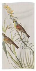 Black-throated Bunting Hand Towel