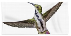 Bath Towel featuring the photograph Black Throated Mango by Rachel Lee Young