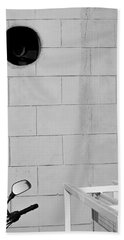 Black White Grey Bath Towel by Prakash Ghai