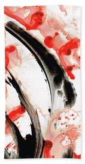 Black White Red Art - Tango 3 - Sharon Cummings Hand Towel by Sharon Cummings