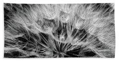 Black Widow Dandelion Hand Towel by Iris Greenwell