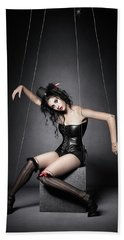 Black Widow Marionette Puppet  Bath Towel