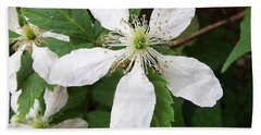 Bath Towel featuring the photograph Blackberry Bloom by Cathy Harper