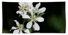 Bath Towel featuring the photograph Blackberry Blooms by Cathy Harper