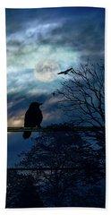 Blackbird And Moonlight Serenade Hand Towel
