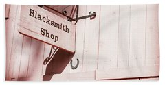 Hand Towel featuring the photograph Blacksmith Shop by Alexey Stiop