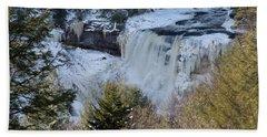 Blackwater Falls In Winter Hand Towel