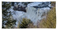 Blackwater Falls In Winter Bath Towel