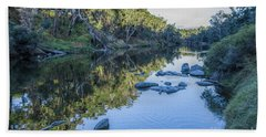 Blackwood River Rocks, Bridgetown, Western Australia Hand Towel