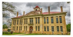 Blanco County Tx Courthouse  Hand Towel