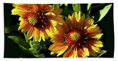 Blanket Flowers - Gaillardia Bath Towel