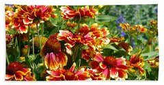 Blanket Flowers Bath Towel by Sharon Talson