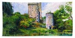 Blarney Castle Landscape Bath Towel by John D Benson