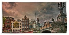 Bath Towel featuring the photograph Blauwbrug -blue Bridge- by Hanny Heim
