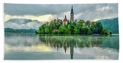 Bled At Sunrise Hand Towel