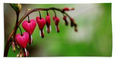 Hand Towel featuring the photograph Bleeding Hearts Flower Of Romance by Debbie Oppermann