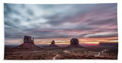 Blended Colors Over The Valley Bath Towel by Jon Glaser
