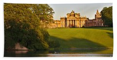 Bath Towel featuring the photograph Blenheim Palace And Lake by Jeremy Hayden