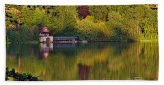 Bath Towel featuring the photograph Blenheim Palace Boathouse 2 by Jeremy Hayden