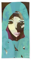 Hand Towel featuring the mixed media Blessed 2 by Ann Calvo