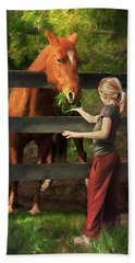 Blond With Horse Hand Towel