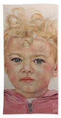 Blonde Girl Hand Towel