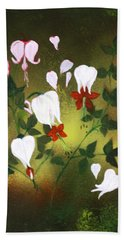 Blood Flower Hand Towel by Tbone Oliver