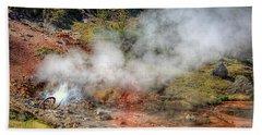 Blood Geyser Hand Towel by Greg Sigrist