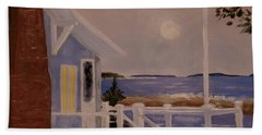Blood Moon Over Muscongus Sound Hand Towel