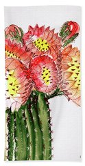 Blooming Cactus Hand Towel