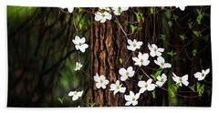 Blooming Dogwoods In Yosemite Hand Towel