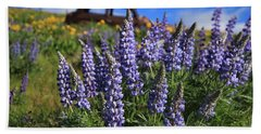 Blooming Lupine Hand Towel