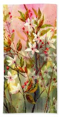 Blooming Magical Gardens I Bath Towel